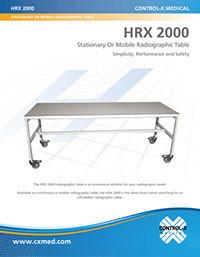 HRX-2000 Mobile Radiographic Table - Brochure