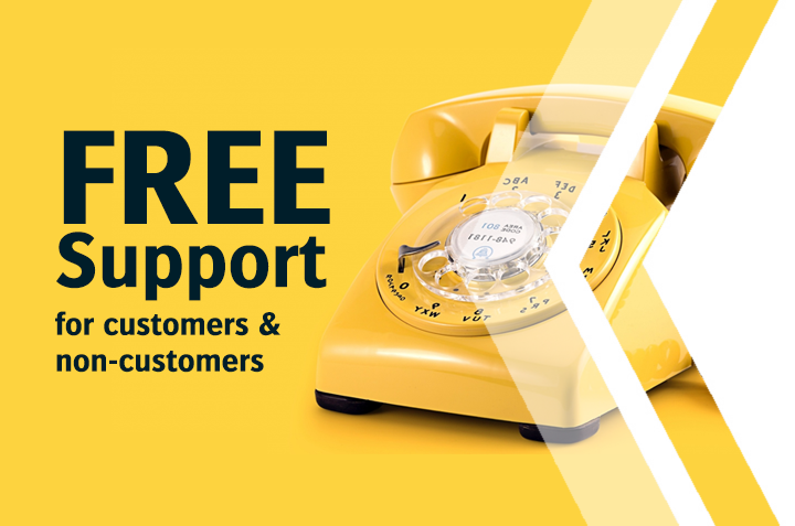 Free Telephone Support for Customers & Non-Customers