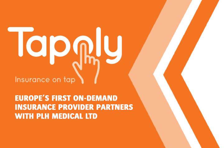 Europe's first on-demand insurance provider partners with PLH Medical Ltd